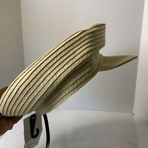 Straw like paper boy hat